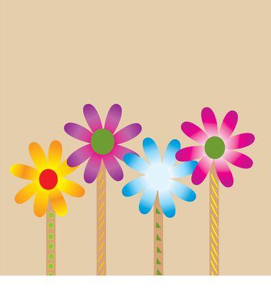 four flowers Ilustracja