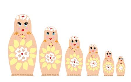 russian dolls Illusztráció