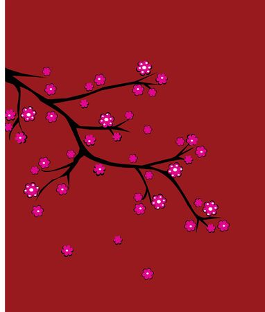 cherry brunch in blossom Vector