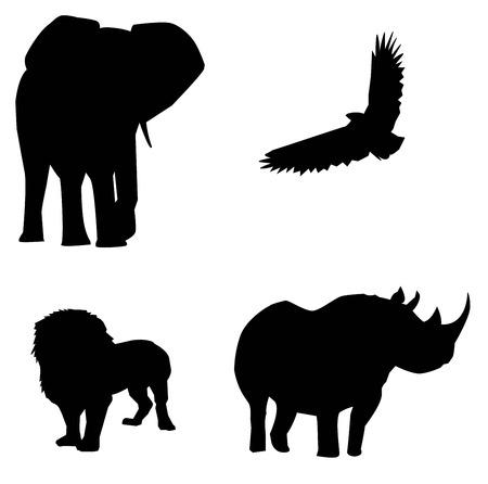 african animals vector Vector