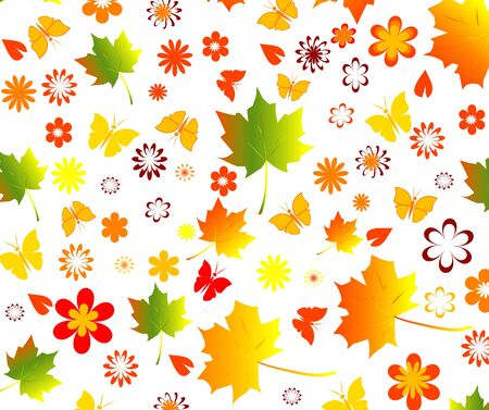 fall seamless background Vector
