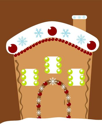 gingerbread: ginger house Illustration