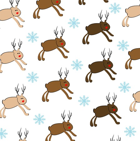 reindeer seamless pattern Vector
