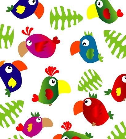 ara: parrots background Illustration