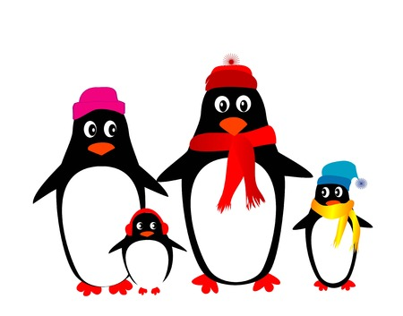 penguin family vector Stock Vector - 5822045