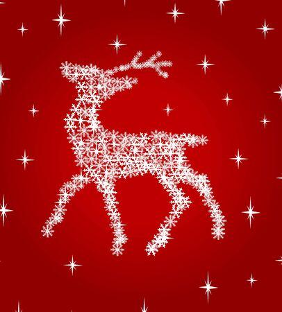 snowflake deer vector