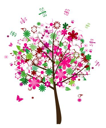 floral tree vector Ilustrace
