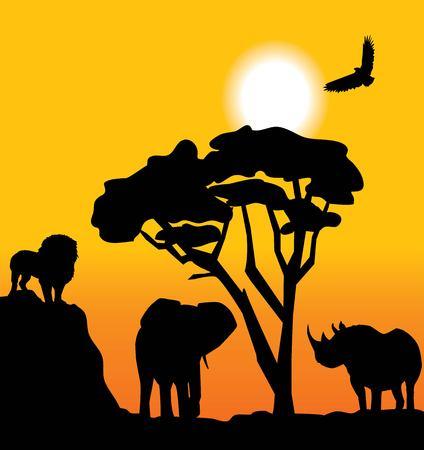 african landscape Ilustracja