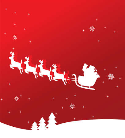 holiday background with Santa Claus Vector