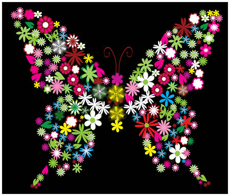 floral butterfly Stock Vector - 6488281