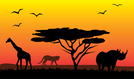 wildlife: african landscape Illustration