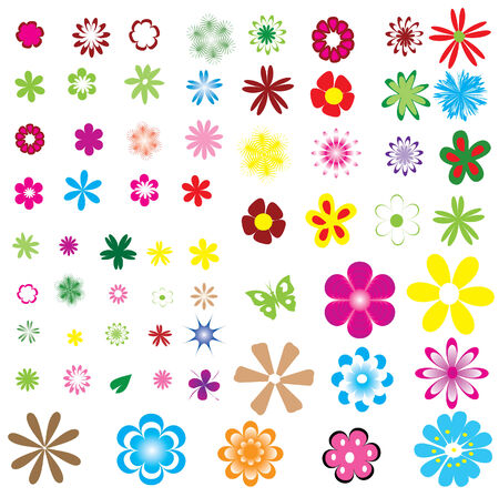 different flowers Stock Vector - 6539443