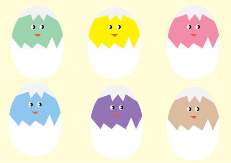 different chickens Vector
