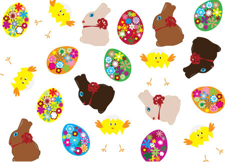easter background Stock Vector - 6614164