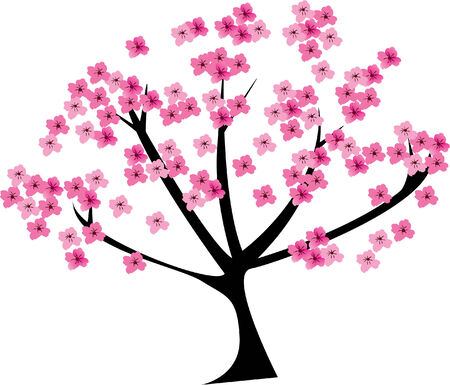 tree: cherry tree Illustration