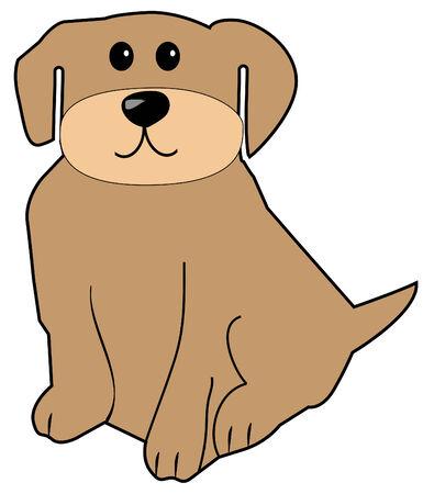 silueta de gato: cachorro