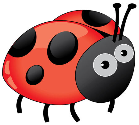 butterfly isolated: ladybug Illustration