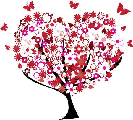 floral heart tree Banco de Imagens - 6902852