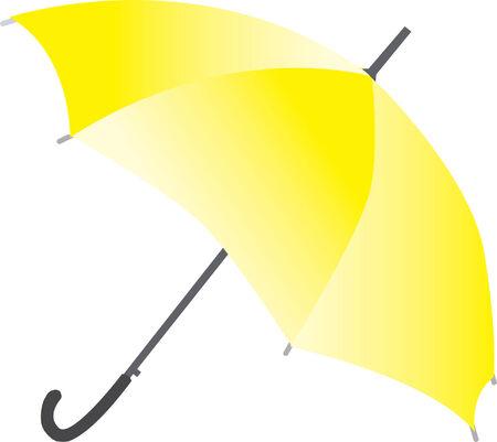 yellow umbrella Stock Vector - 7000173