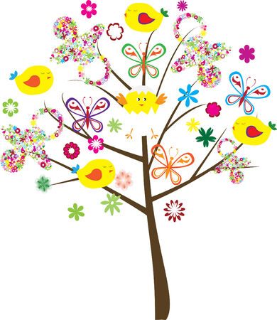 baby shower tree Stock Vector - 7000188
