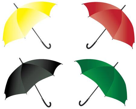 four umbrellas Ilustração