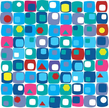 retro tiles background Banco de Imagens - 7216415