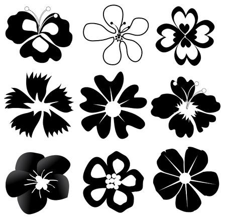 black flowers Stock Vector - 7275889