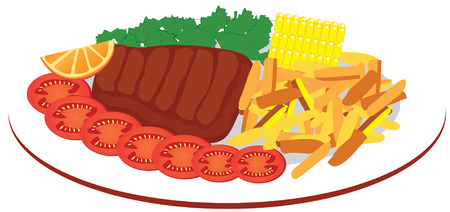 food plate Stock Vector - 7300783