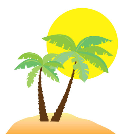 beach cartoon: beach Illustration