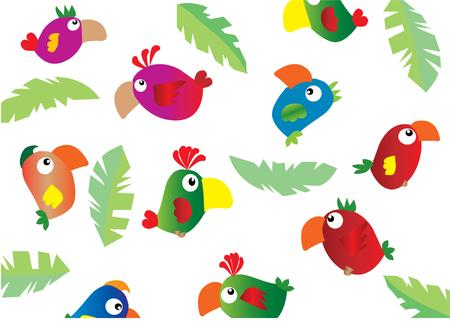 parrots 일러스트