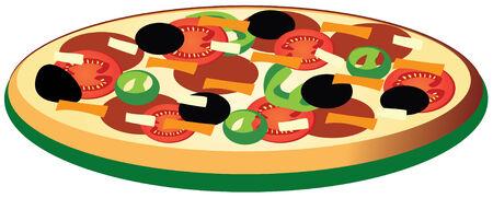 pizza Stock Illustratie
