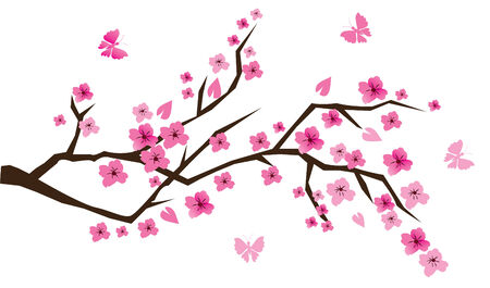 sakuras: Cerezo brunch con mariposas