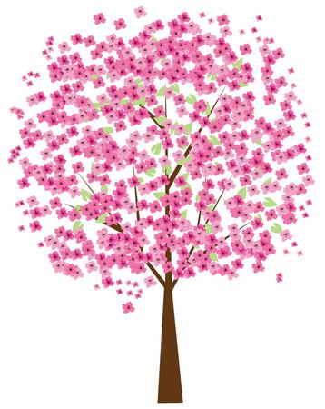 cherry tree in bloei Vector Illustratie