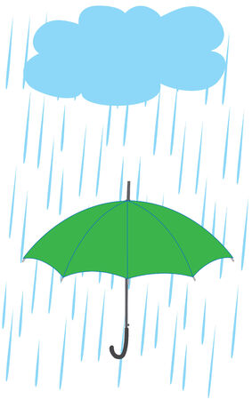 umbrella in the rain Stock Vector - 7408375
