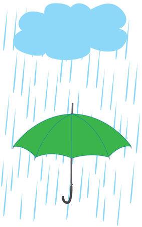umbrella in the rain Stock Vector - 7408375