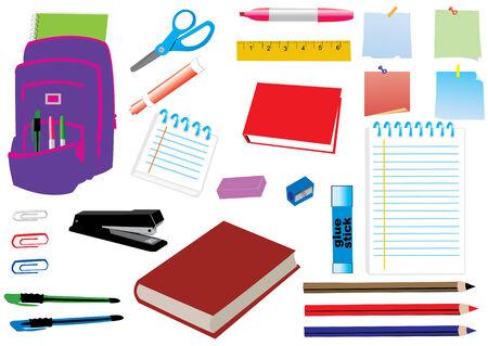 学校やオフィス用品  イラスト・ベクター素材