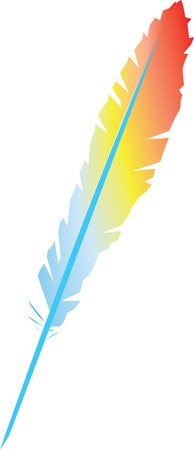 vector feather Stock Vector - 7566029