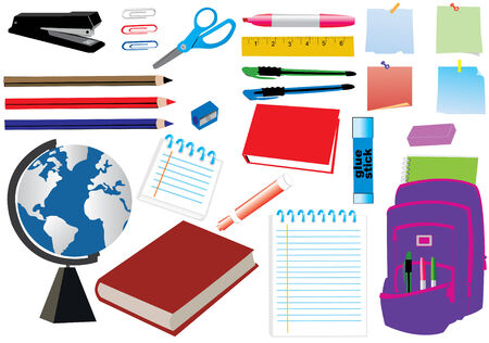 school or office supplies Vector