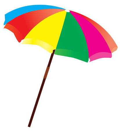 lawn chair: beach umbrella