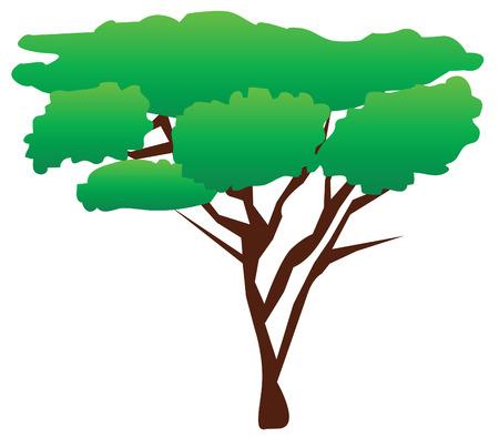 green tree Illusztráció