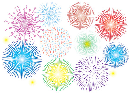 firework: fireworks on white background