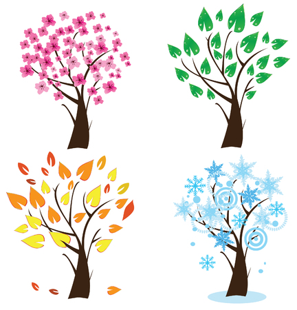 season trees Stock Vector - 7933165