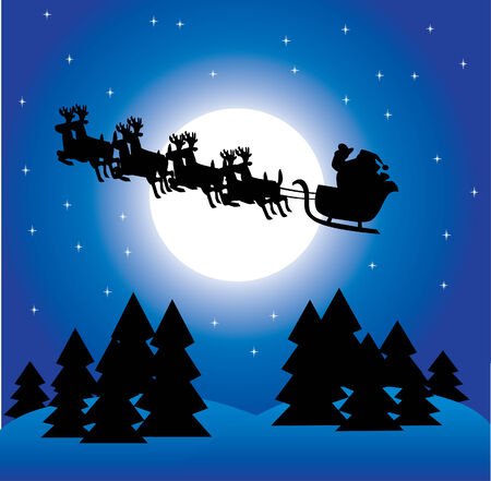 holiday background with santa Illustration