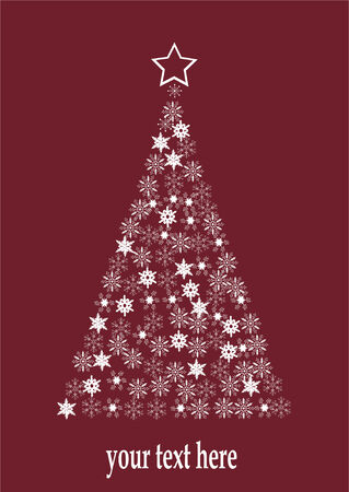 holiday tree made of snowflakes Ilustrace