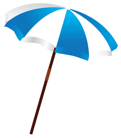 lawn chair:  beach umbrella Illustration