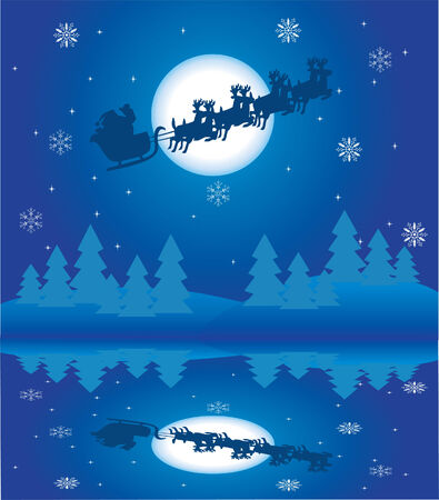 holiday background with santa Stock Vector - 8002592