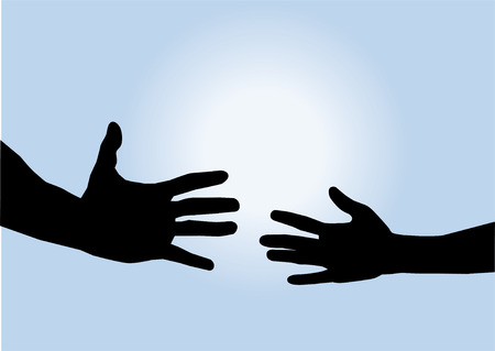 hand: helping hand and the sun