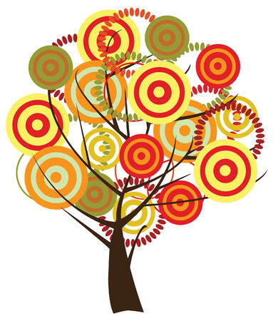 abstract fall tree Vector