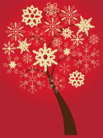 joyous: snow tree Illustration