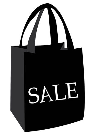 white paper bag: sale shopping bag
